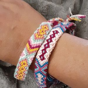 Hand woven Friendship bracelets made with love nwt